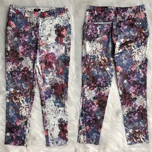 H&M Silky Floral Patterned Pants